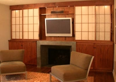 Built-in cabinetry for home theater
