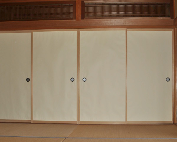 New replacement fusuma for Shoin House Chicago Botanic Garden & Fusuma Doors | Plane-Spoken