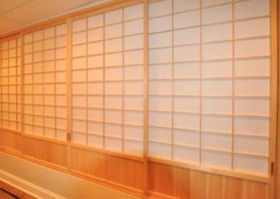 Shoji for basement utility space