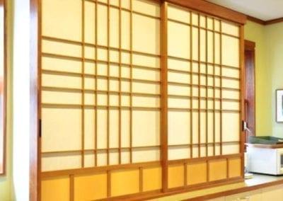 Shoji for pantry cabinet
