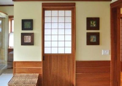 Shoji for pocket door