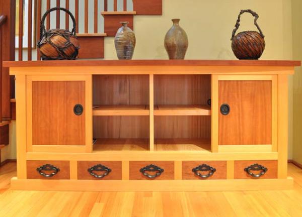 Tansu half-high kitchen-style chest, or mizuya-dansu